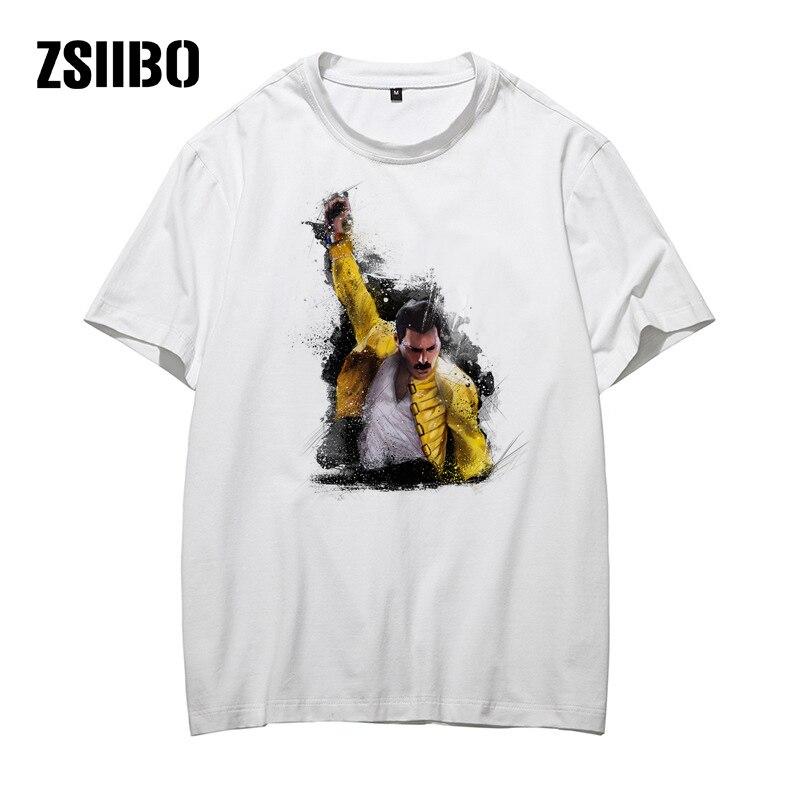 ZSIIBO HY1MC46 banda de Mercury Queen camiseta para hombre Hip Hop Rock Hipster camiseta 2