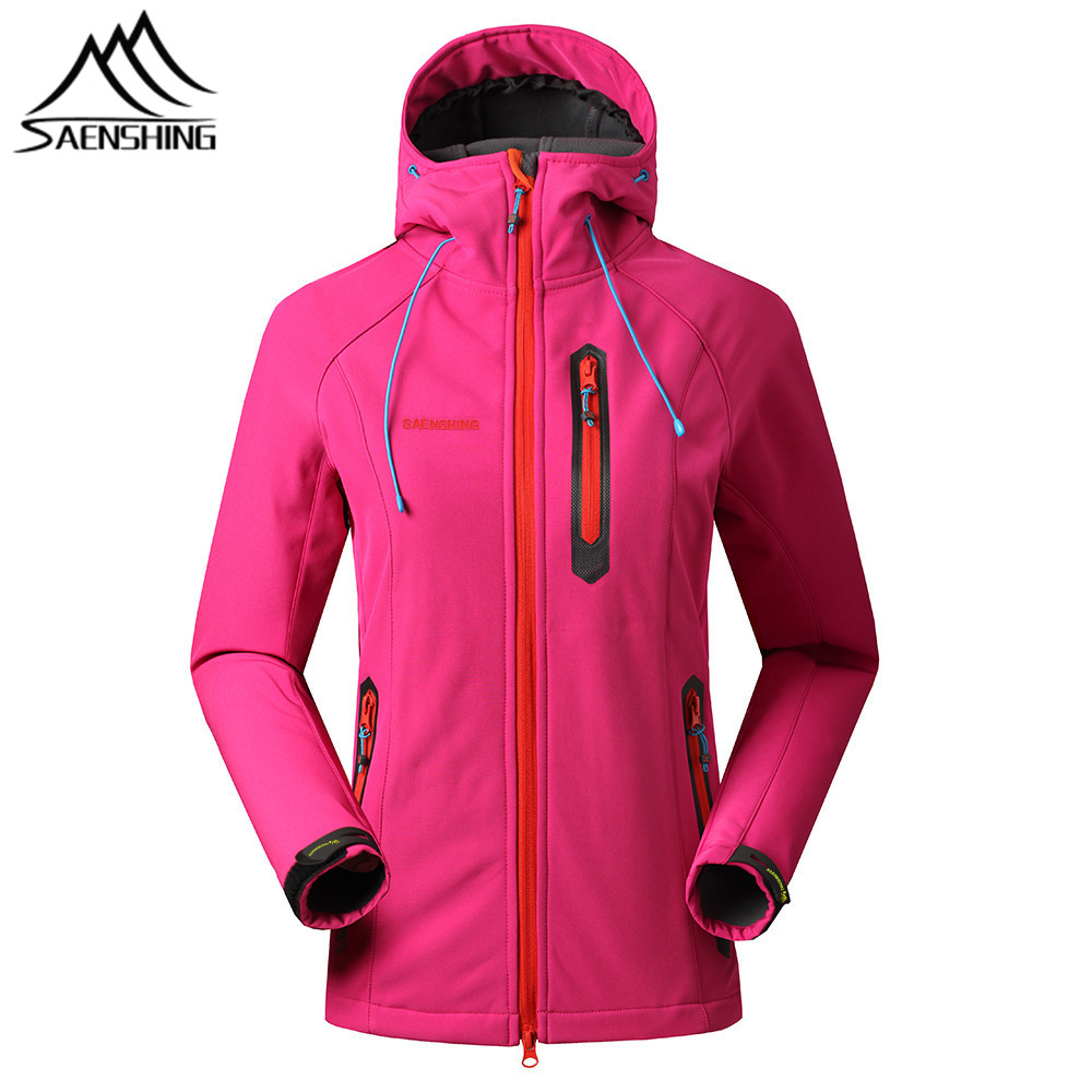SAENSHING Softshell Jacket Women Thermal Fleece Rain Jacket Female Outdoor Hiking Hunting Clothes Waterproof Jacket Windbreaker(China)