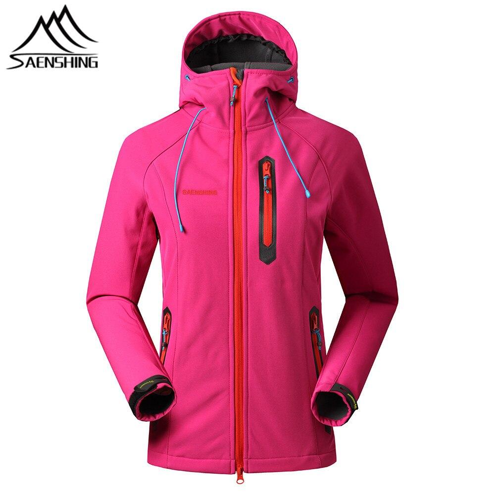 SAENSHING softshell מעיל נשים תרמית צמר נשי מעיל גשם חיצוני טיולים ציד בגדים עמיד למים מעיל מעיל רוח
