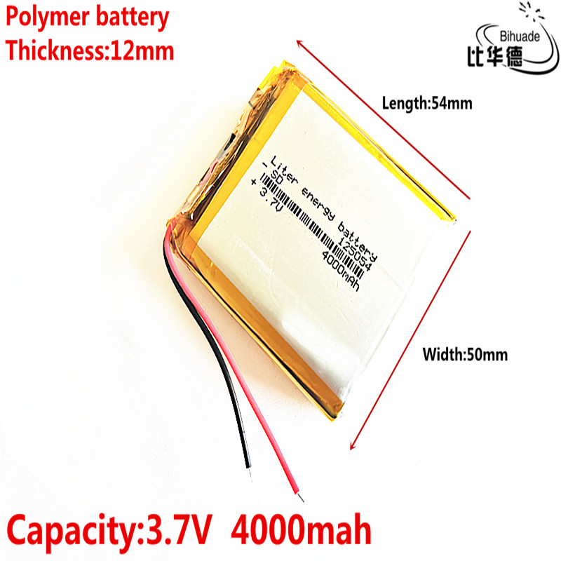 3.7V 4000mAh <font><b>125054</b></font> lithium polymer battery MP3 MP4 navigation instruments small toys and other products Universal Battery image