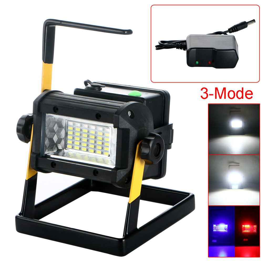 outdoor waterproof portable 2400 lumen 36 led floodlight rechargeable led wor. Black Bedroom Furniture Sets. Home Design Ideas