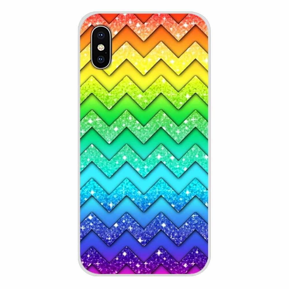 กรณี TPU โปร่งใสที่มีสีสัน Glitter เพชรคริสตัลสำหรับ Apple iPhone X XR XS MAX 4 4 S 5 S 5C SE 6 6 S 7 8 Plus ipod touch 5 6