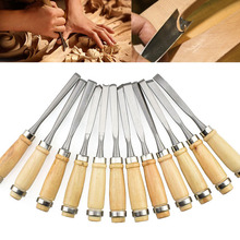 12PCS Assorted Wood Working Carving Chisels Tools Skew Sculpting Tool Set Wood Carving Tools Chisel set Knives 1 25mm 65 manganese steel wood working tool flat spade chisel wood chisel x 1