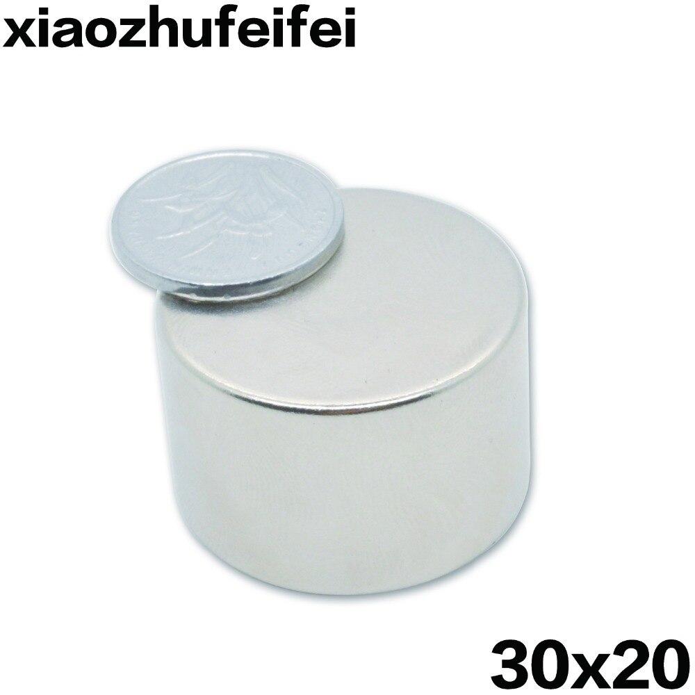 1pcs/pack Big Strong N40 Neodymium NdFeB Magnets Rare Earth Round Disc Fridge 30x20mm 30*20mm greeting word style fridge magnets 4 pack