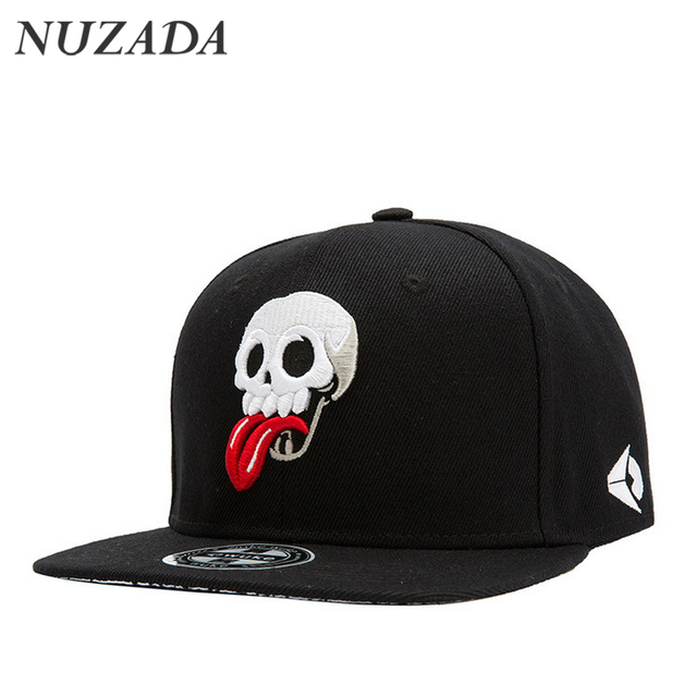 Brands NUZADA Men Women Baseball Cap Caps Snapback bone Sports Hat Hats Hip Hop Skull Punk Fashion Embroidery cotton jt-105