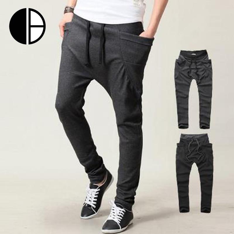 Caliente! 2015 otoño para hombre Hip Hop Harem pantalones