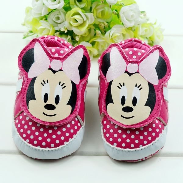 Mickey baby shoe,Alice's Hot sale products, Baby Shoe,Prewalker shoes  for cute  Baby  Girl and boy ,6 pairs/lot ,Free shiping.