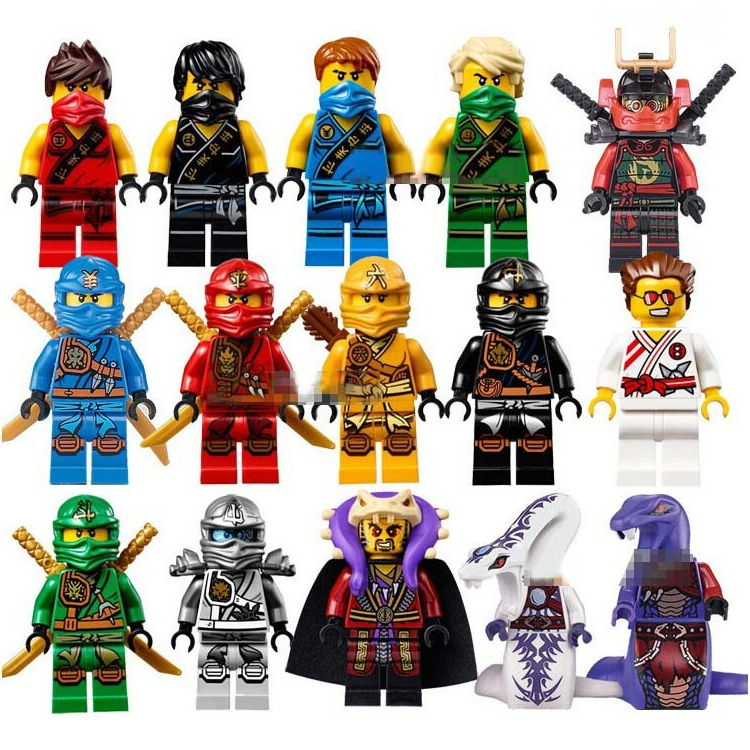 hot compatible LegoINGlys NinjagoINGlys Set NINJA figures Kai Jay Cole Zane Nya Lloyd Building blocks With weapon Toys 2017 new single ninja movie nadakhan dogshank kai jay cole zane nya lloyd building brick toys x0112 x0118