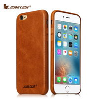 Jisoncase Genuine Leather Phone Case For iPhone 6/ 6s / 6 plus / 6s plus Vintage Phone Cover Half wrapped Anti knock Fashion