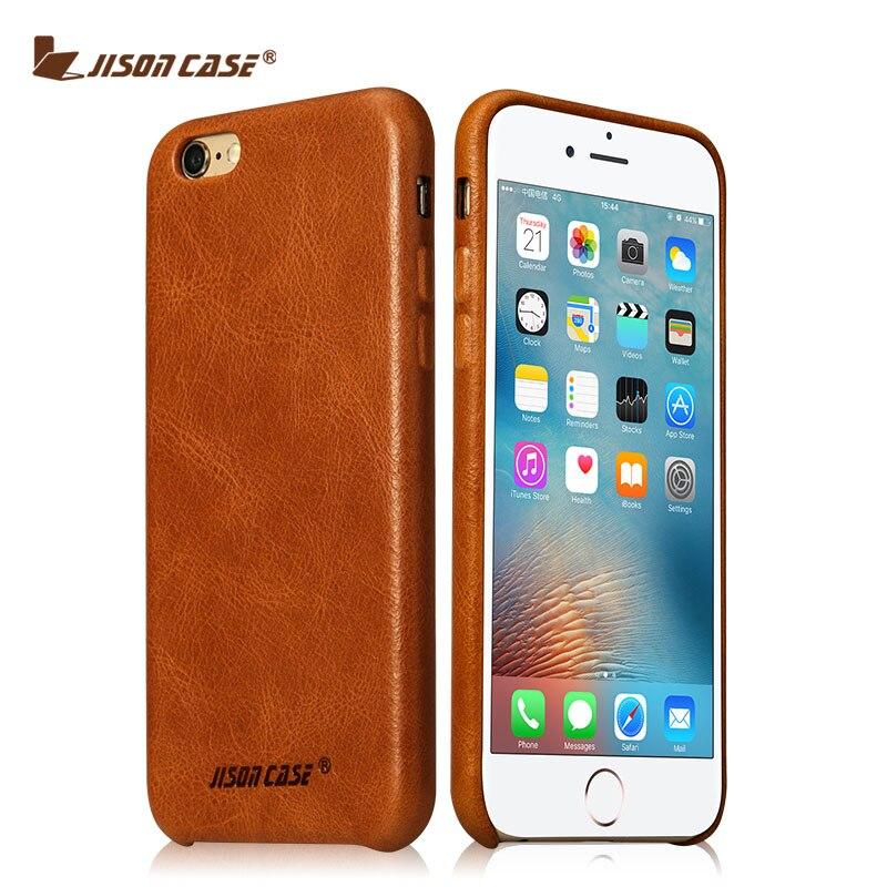 bilder für Jisoncase für iPhone 6 s 6 Fall Echtem Leder Fundas für iPhone 6 plus 6 s plus Abdeckung Luxus Marke Handy Taschen & Koffer