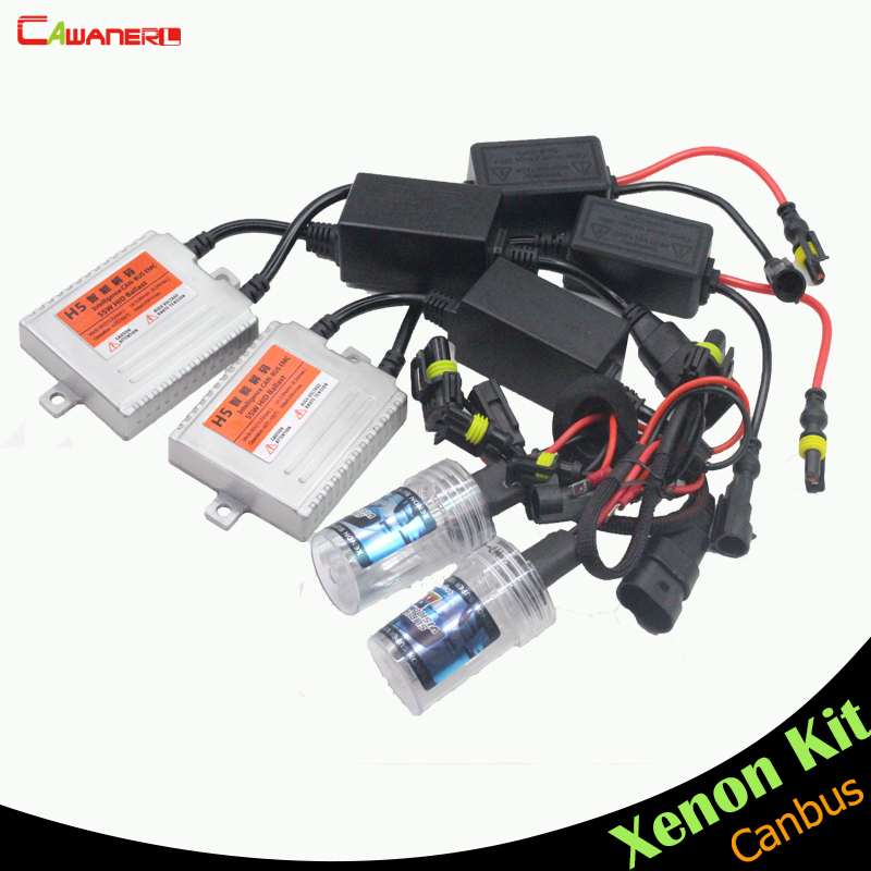 Cawanerl 55W H1 Canbus Anti Error AC HID Xenon Kit Ballast Bulb Car Headlight Fog Light Daytime Running Lamp DRL 3000K-15000K