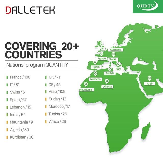 Dalletektv Arabic IPTV Box Leadcool Smart Android TV Box 1 Year