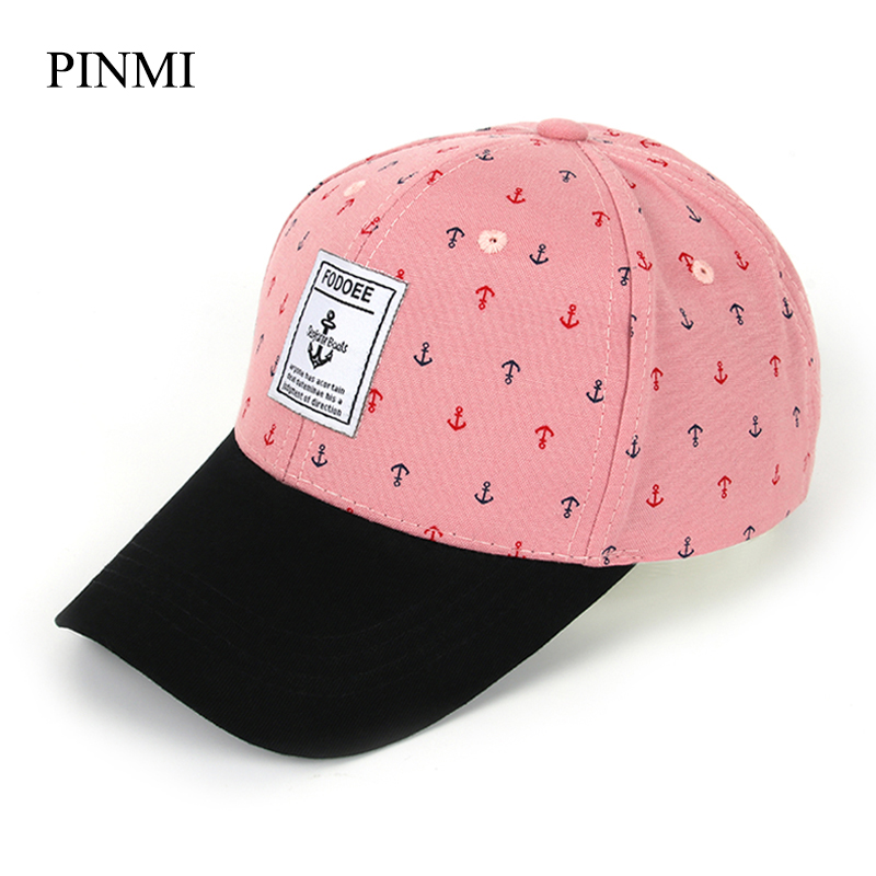 [PINMI] Summer Snapback Baseball Cap Women 2017 Pink Letter Bone Adjustable Cotton Hip Hop Caps Cute Anchor Hats For Women new fashion floral adjustable women cowboy denim baseball cap jean summer hat female adult girls hip hop caps snapback bone hats