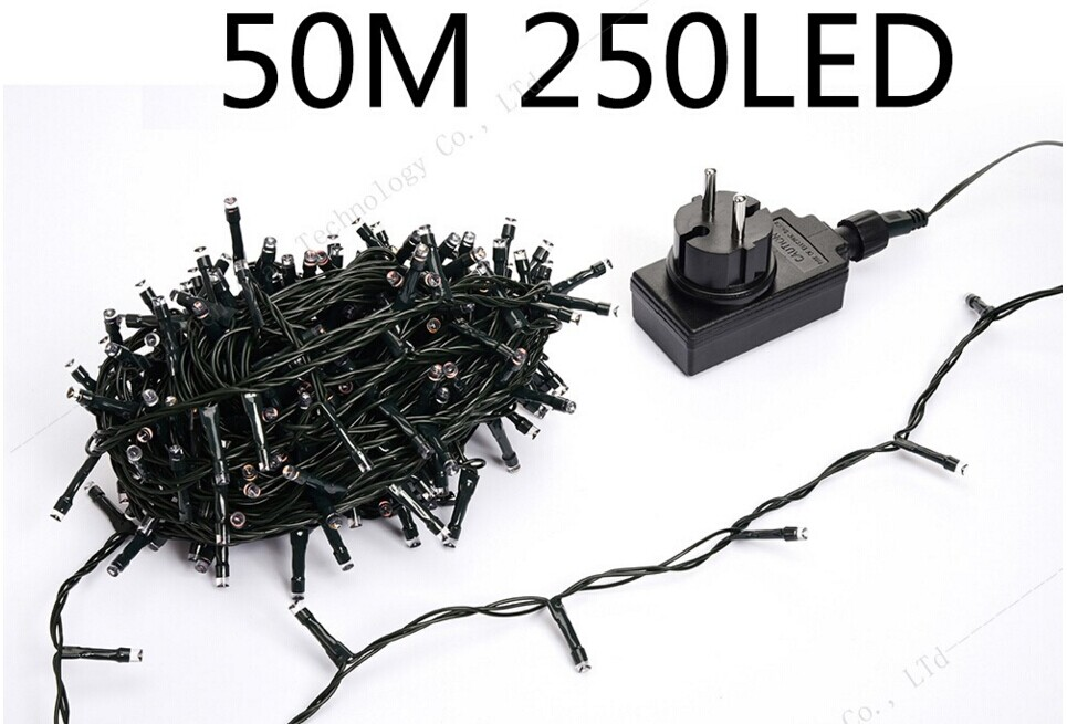 Low Voltage Dc24v Outdoor Waterproof Led Christmas Fairy String Lights 50m 250led For Holiday Decorations 4