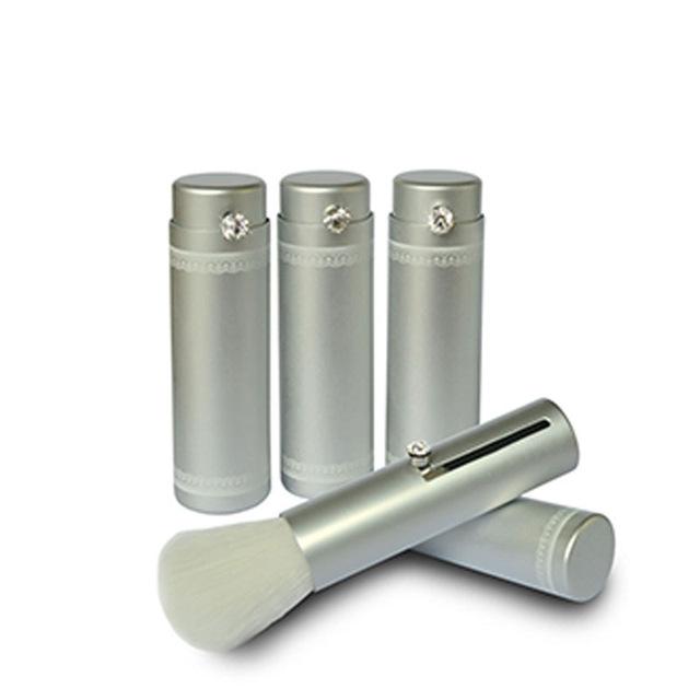 Francês padrão decorativo flexível tubo de blush de alumínio portátil cosméticos BrushesBrushes