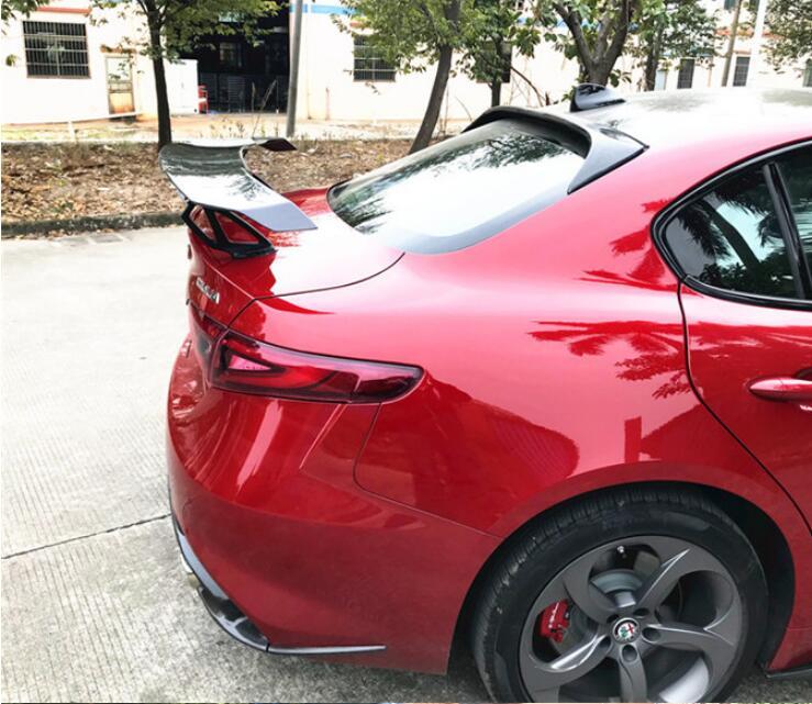 Jioyng Carbon Fiber Car Rear Wing Trunk Lip Spoiler For 17 18 Alfa