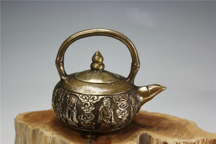 Antique bronze pur cuivre ancien laiton Dragon tortue cuivre pot ornements bouilloire théière bronze décoratif hommes art collection