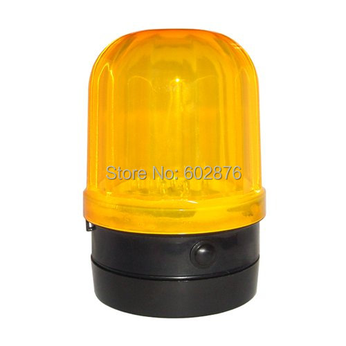 Car Safety Yellow Strobe Light With Magnetic Base Yellow