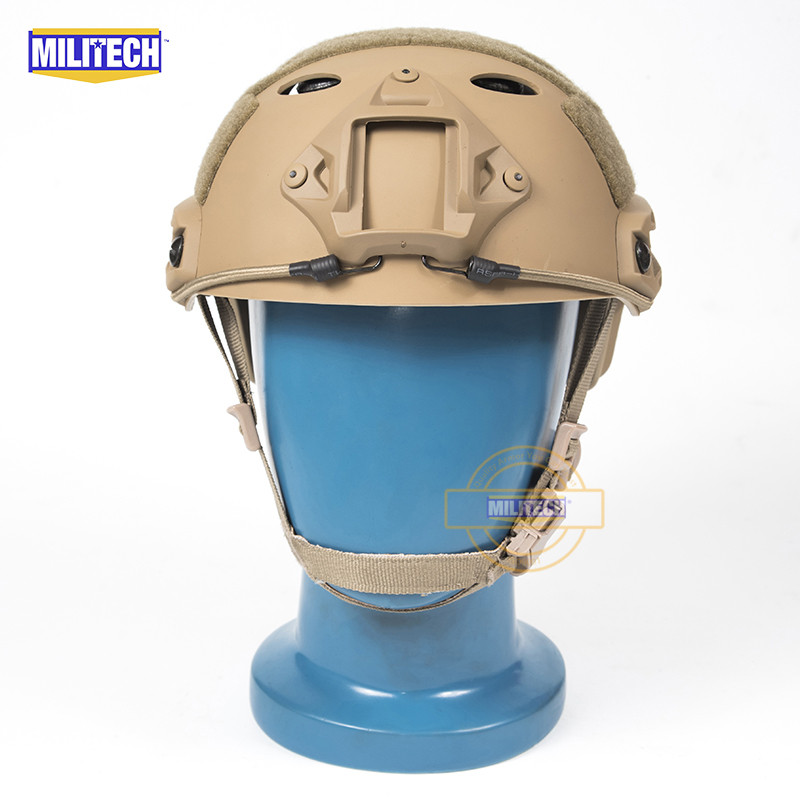 MILITECH FAST CB PJ Carbon Style Vented Airsoft Tactical Helmet Ops Core Style High Cut Training Helmet Ballistic Style Helmet. militech fast aor2 bj high cut style vented airsoft tactical helmet ops core style base jump training helmet air soft helmet