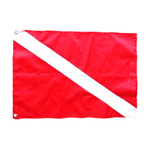 1 Pcs Diver Down Flag Kayak Boat Safety Signal Marker Banner Flag for Underwater Scuba Diving Spearfishing Red 50 x 35 cm(China)
