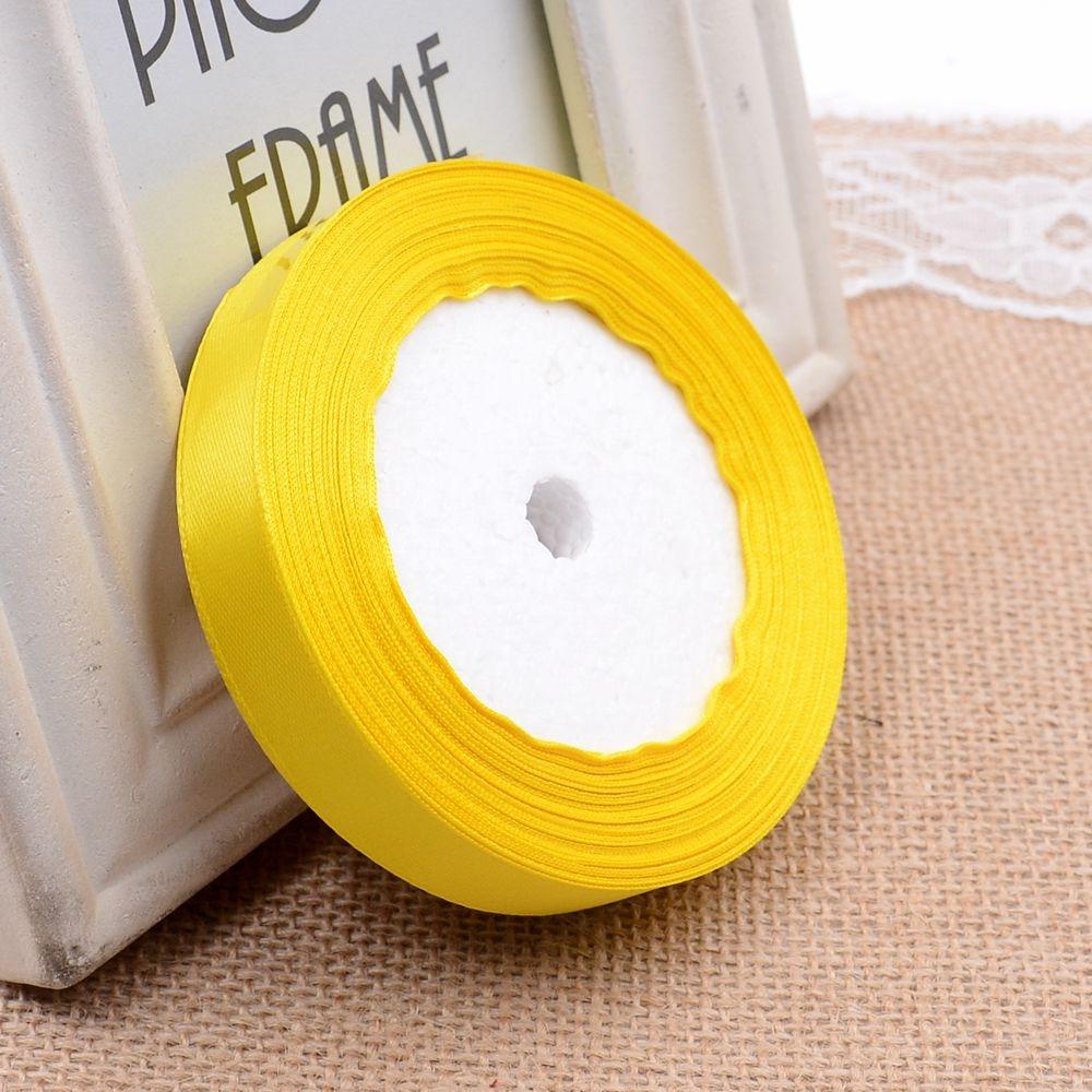Ткань 10 мм 25 ярдов Белый Шелковый Атласный органза полиэстер лента для шитья Свадебная вечеринка украшение тесьма для рукоделия Подарочный упаковочный пояс - Цвет: 25