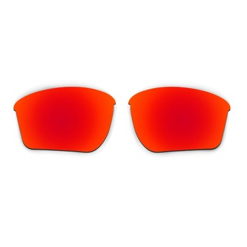 HKUCO For  Half Jacket 2.0 XL Red Polarized Replacement Lenses And Red Earsocks Rubber Kit