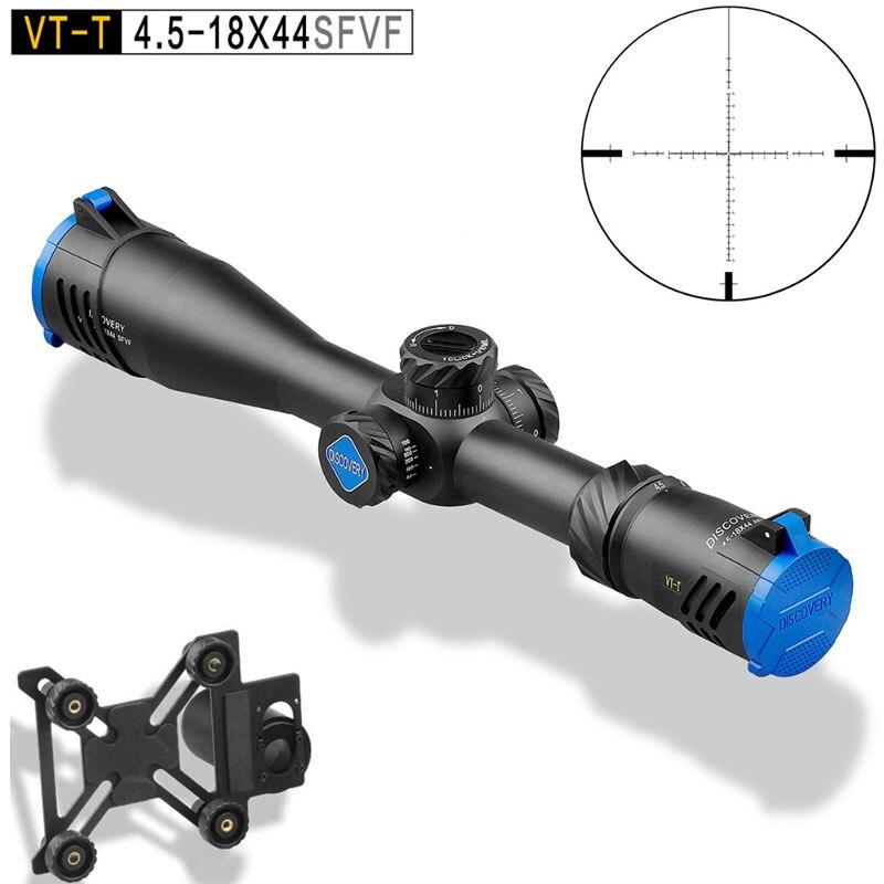 DISCOVERY VT T 4,5 18X44SFVF FFP Riflescopes Long Distance Тактический оружейный прицел военный оптический прицел с адаптером для мобильного телефона