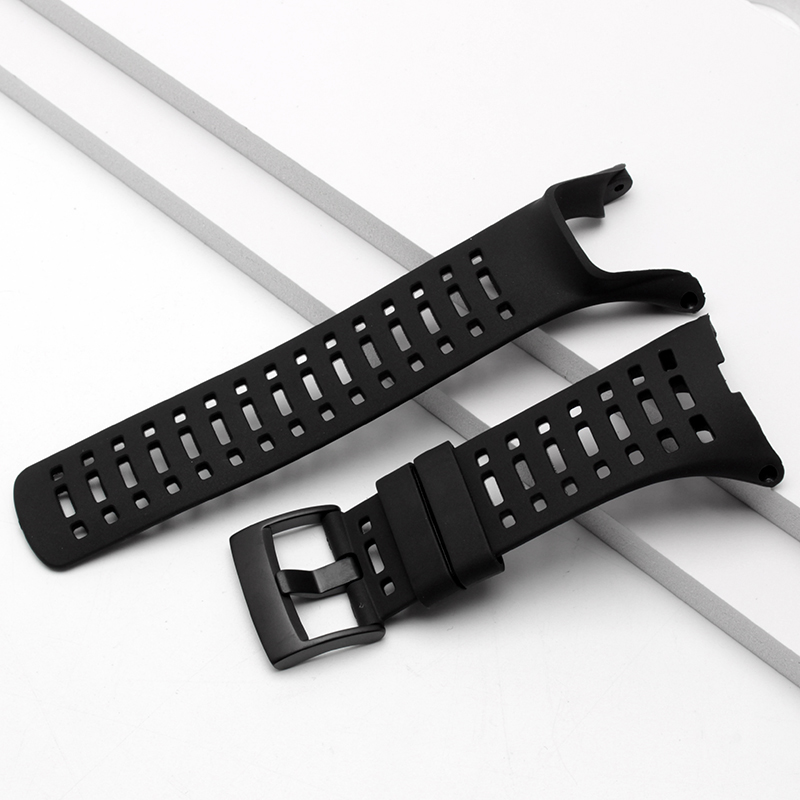 for Men's SUUNTO Ambit 1 2 2R 2S Ambit 3 Peak / Ambit 2 Watch 35mm Waterproof Rubber Watchband With Steel Buckle and Screwdriver soft silicone watch band rubber watch strap waterproof watchband for suunto ambit 1 2 3 watch