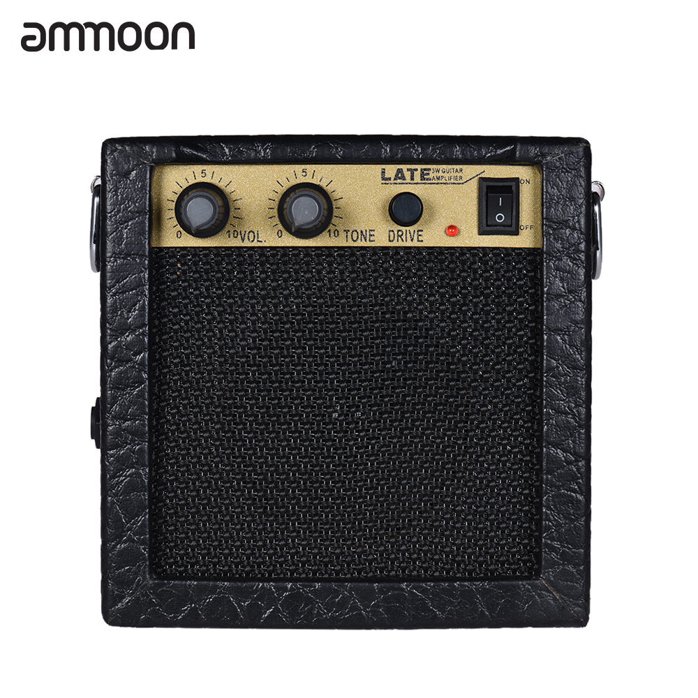 ammoon battery powered mini electric guitar amp amplifier speaker volume tone control overdrive. Black Bedroom Furniture Sets. Home Design Ideas
