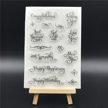Words Transparent Clear Silicone Stamps for DIY Scrapbooking/Card Making/Kids Christmas Fun Decoration Supplies A766
