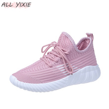 ALL YIXIE 2019 New Fashion Breathable Vulcanized Ladies Sneakers Soft Bottom Casual Shoes Women Mesh Shoes Running Student Shoes 2018 new soft bottom lace up women s shoes breathable net surface student sport shoes ladies causal shoes small wihte shoes