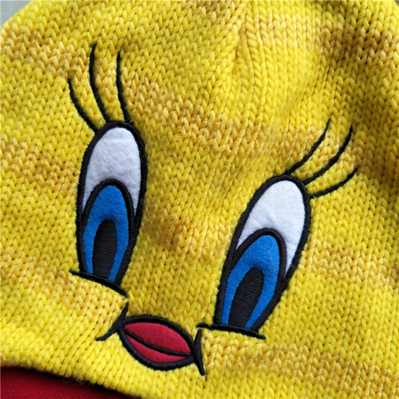 52714d514cb Cartoon Anime Yellow Bird Plush Hats Cosplay Yellow Duck Hat Hero Mario  Hats Warm and Cute cap Children Kid baby hats with braid-in Boys Costume  Accessories ...