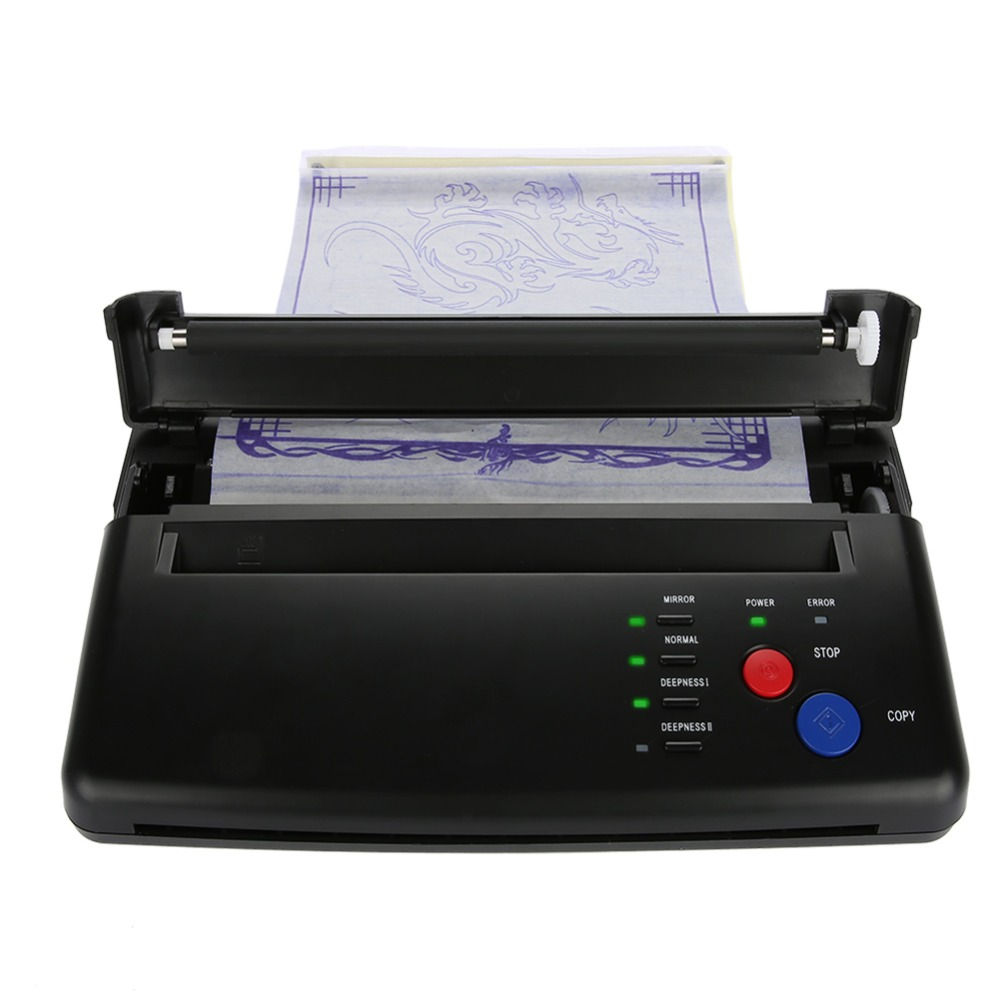 US $119 08 45% OFF|Aliexpress com : Buy 2 Types Portable A5 A4 Paper Tattoo  Transfer Stencil Thermal Copier Printer Machine Black Permanet Makeup