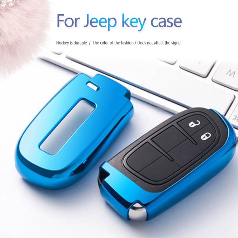 2018 TPU Key fob Cover For Jeep Grand Cherokee Compass Liberty Patriot  Renegade Wrangler Accessories Key Bag Case Holder Keyring