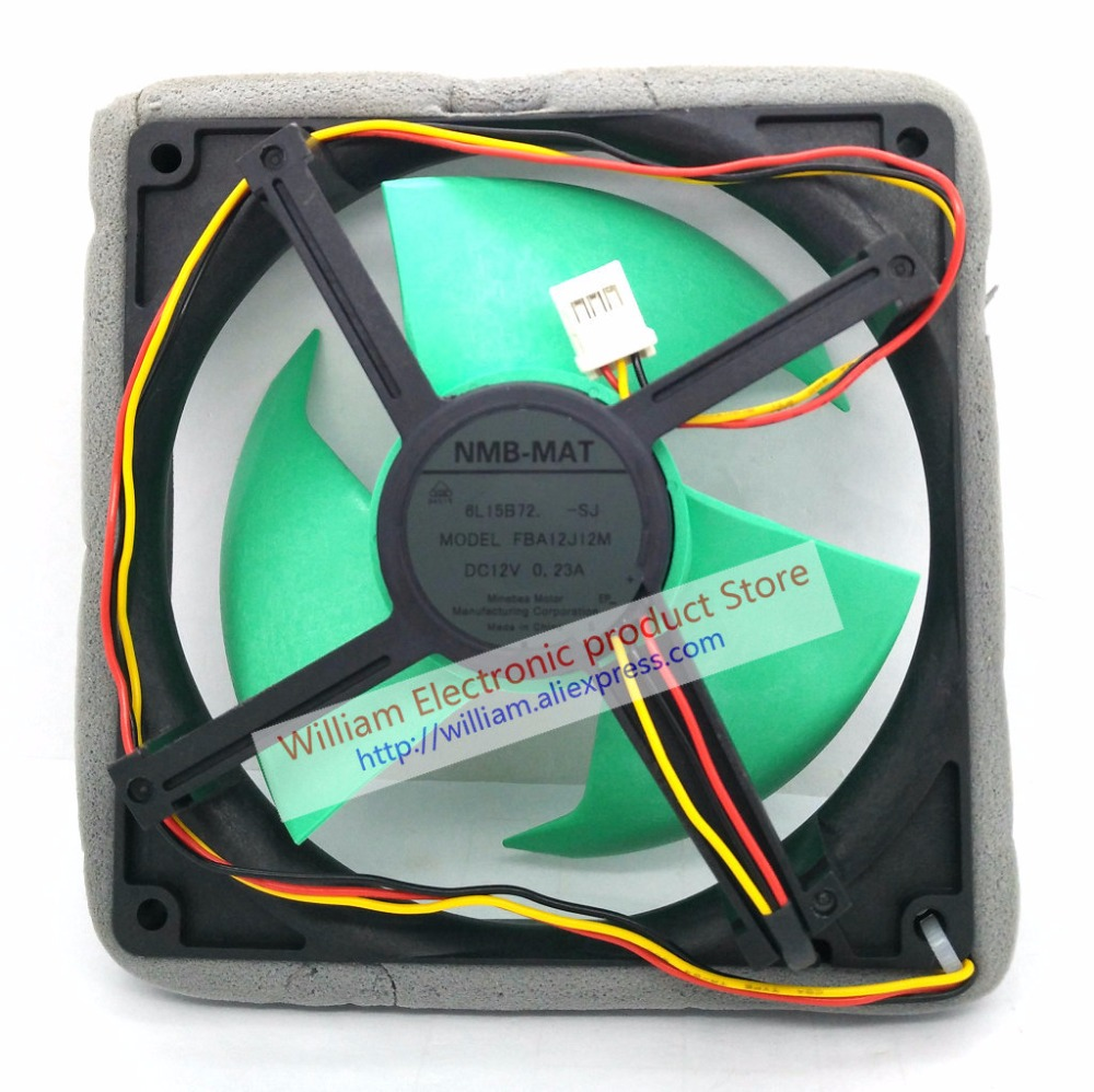 New Original NMB-MAT FBA12J12M DC12V 0 23A 12cm for refrigerator cooling fan