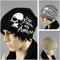 2014 free shipping New  Unisex chic Print Hiphop BEANIE slouchy Hat black Cap men women hat