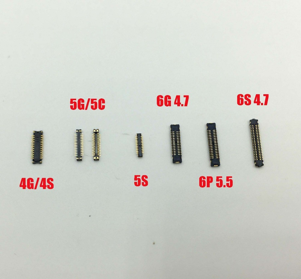 10pcs/lot origianl new LCD <font><b>Display</b></font> FPC <font><b>connector</b></font> for iPhone 4s 5 5c 5s 6 6plus 6s on motherboard logic board mainboard image