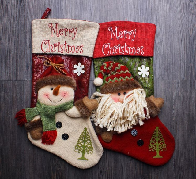 free shippingwholesale santa sacks christmas stocking christmas decorations for home xmas christmas tree