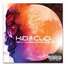 Cartazes e Cópias de Z0477 Kid Cudi Man On The Moon No Final do Dia Álbum de Música Rap Cartaz Da Arte Da Lona pintura Home Decor(China)