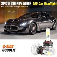 H16 Led 60 Вт Фары Автомобиля Лампа 6500 К Авто DRL Туман Вождение Лампа Комплект Все В Одном