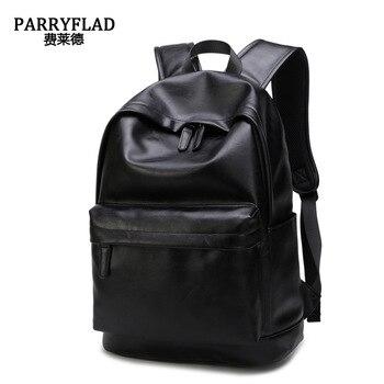 New Fashion Men Backpack Men's Backpacks For Teenager Luxury Designer PU Leather Backpacks Male High Quality Travel Backpacks фото