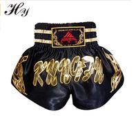 Muay Thai Boxing Shorts Mma Shorts Muay Thai Boxing Shorts Pantalones Mma Pants Men Black Kick Boxeo Sanda Embroidery Fighting