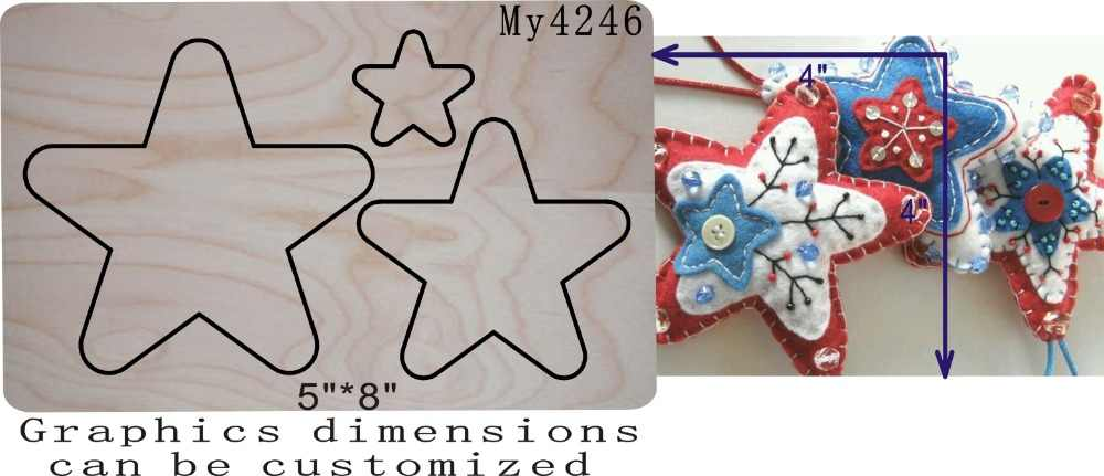Звезда кулон высечки вырезанные аксессуары деревянные высечки Regola Acciaio die Misura,/MY