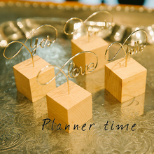 Original Design Creative Wooden Message Clip YES/HELLO/SMILE/LOVE Business Card Holder Photo Folder Multi-Function Clips