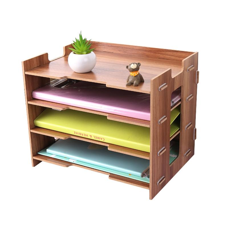 Wood Magazine Holder Eco Friendly File Holder Desk Supplies Organizer File Folder Racks Storage Box Magazine Organizers Office