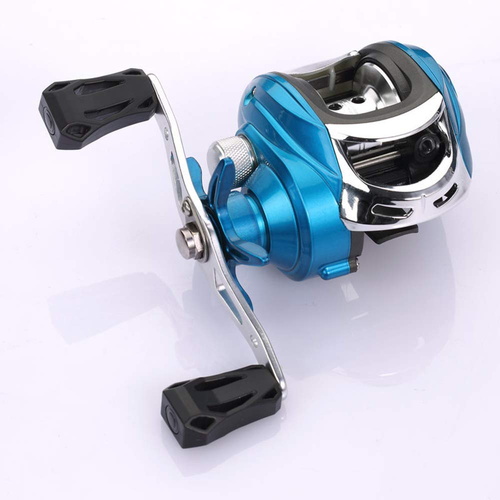 Baitcasting Fishing Reel 11 Lb Powerful Drag 7.2:1 Gear Ratio Ultra Smooth Powerful Fishing Reel 4 +1 BB Casting Reel for Freshw(China)