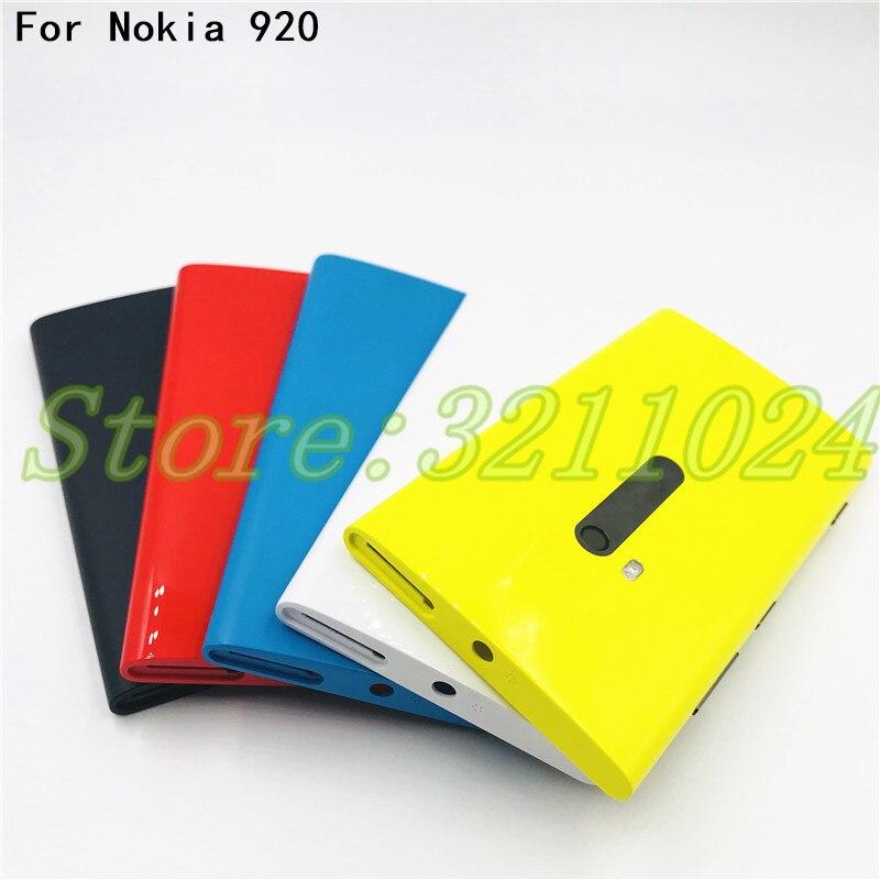 Original de la vivienda batería puerta caso de la cubierta para Nokia lumia 920 N920 piezas de repuesto cinco colores disponibles