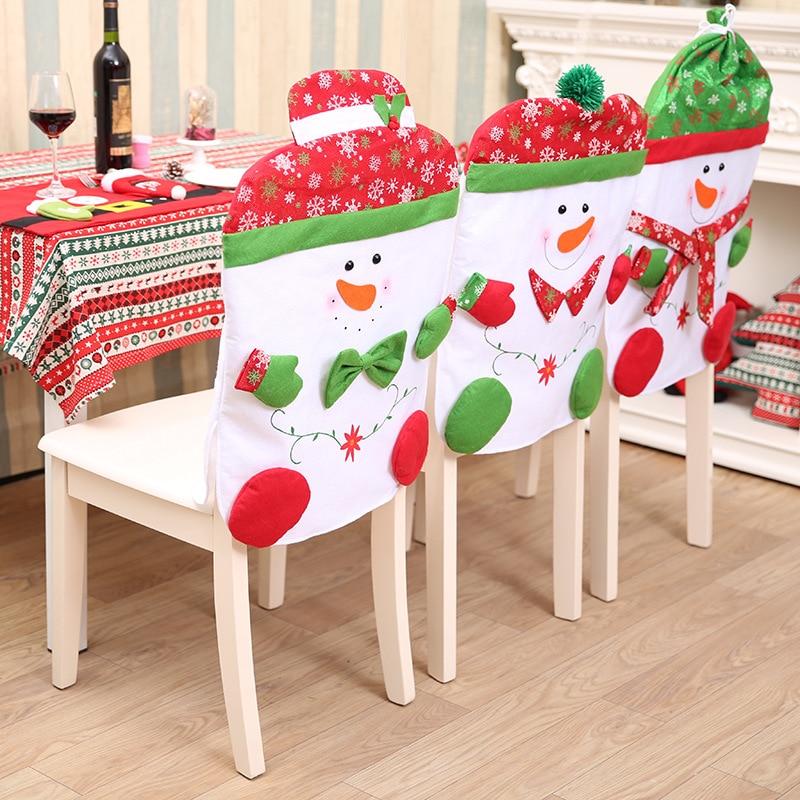 High Quality Xmas Snowman Chair Cover Christmas Dinner