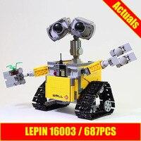 Lepin Ideas 16003 WALL E 687pcs Building Blocks Similar To 21303 Building Kit Toys For Birthdays