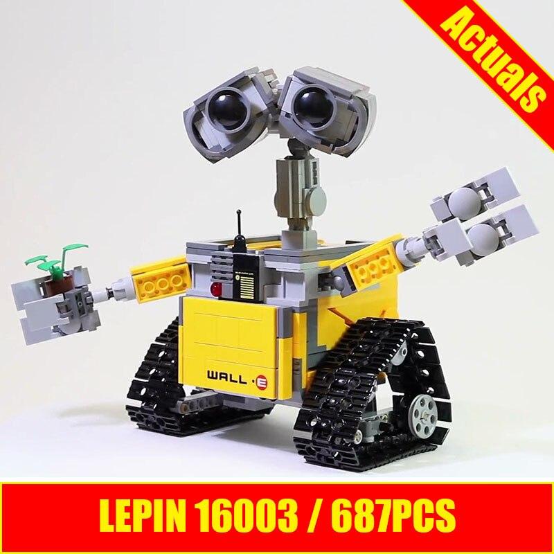 Lepin Ideas 16003 WALL E 687pcs building blocks similar to 21303 Building Kit toys for birthdays holidays gift boys Robot WALL E
